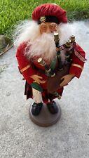 "Santa Claus Bagpipes Scottish Figure 17"" Inch"