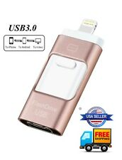 64gb OTG 3 in 1 USB Flash Drive Pen Drives USB 3.0 Memory Stick For iPhone