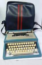 Vintage portable typewriter Blue Olivetti Lettera 31R Ettore Sottsass