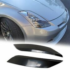 2003-2008 For NISSAN 350Z Z33 2D Unpainted Headlight Eyelid Black Cover ABS