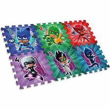 Pj Masks Tapis de Jeu Mousse Puzzle 6 Pièces Lavable
