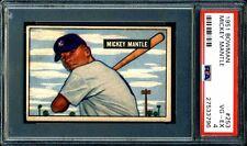 MICKEY MANTLE PSA GRADED 4 VG-EX 1951 BOWMAN ROOKIE CARD #253 GREAT EYE APPEAL!