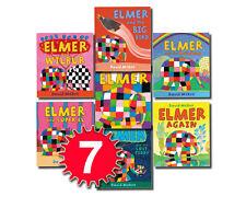 Elmer the Stripy Colour Elephant Collection David Mckee 7 Books Set Elmer Again