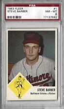 1963 Fleer Baseball #1 Steve Barber PSA 8 NM-MT