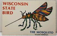 Wisconsin State Bird, The Mosquito Postcard A10