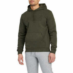 NEW!!! Puma Men's Pullover Hooded Sweatshirt (Forest Night Green, Large)