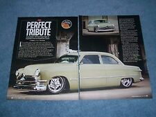 "1949 Ford Coupe Custom Street Rod Article ""Perfect Tribute"" Boss 429"