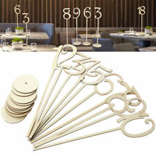 10pcs Wooden Wood Table Numbers with Holder Base Wedding Home Decoration