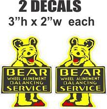 2 Bear Wheel  Alinement Allignment  Balancing Service Vinyl Decals L & R
