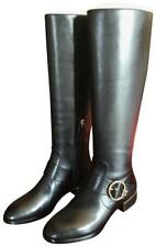 "7d77c06714a NIB ""Tory Burch"" Sofia black leather riding boots regular calf size 7"