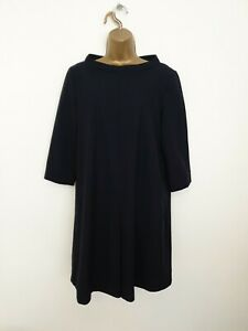 COS Size 38 ( UK Size 12 ) Navy Blue Wool Smart Occasion Casual Dress - Womens