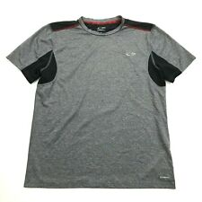 Champion Mens Grey Dry Fit Shirt Size M Medium Adult Gym Tee Vented Power Core