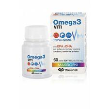 Omega 3 Tripla Azione Cuore, Mente e Vista Integratore Marco Viti 60 Perle