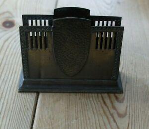 WMF art nouveau burnished metal letter/napkin holder -circa 1910