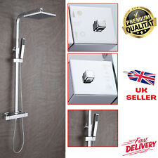 Chrome Waterfall Bath Shower Unit Mixer Set Tap With 3 Way Square Riser