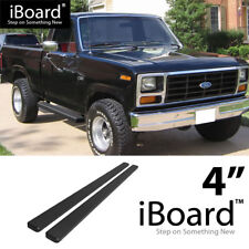 "Running Boards 4"" Fit 1980-1996 Ford F-Series / Bronco Regular Cab Pickup 2Dr"