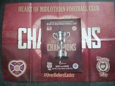 MINT HEARTS v GLASGOW RANGERS (CHAMPIONS ISSUE) FOOTBALL PROGRAMME 02/05/17