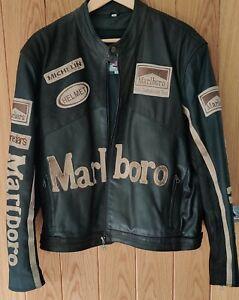Men's leather biker jacket - Large