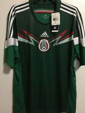 Adidas Mexico Home Green White Soccer Jersey 2014 Size XL Men's Only