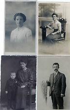Lot Of 4 Antique Original Postcards (RP)