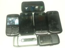 cell phone lot; Blackberry, Zte, Motorola, Lg, At&T, Verizon, .7 total, parts