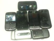 cell phone lot; Blackberry, ZTE, Motorola, LG, AT&T, Verizon, ...7 total, parts