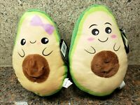 NEW Avocado Plush Male Female Couple Set Toy Cute Doll Stuffed Figures Kawaii