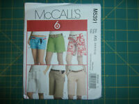 McCall's 5391 Size 4 6 8 10 12 Misses' Shorts in Three Lengths Belt