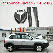 For Hyundai Tucson 2004 -2008 Black Roof Rails Rack End Cover Shell Replace 4pcs