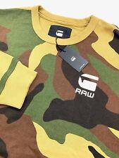 G-Star Raw Camouflage Green Crew Neck Pullover Sweater XXL
