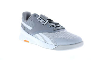 Reebok Lifter PR II FU7983 Mens Gray Canvas Athletic Weightlifting Shoes