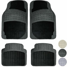 New 4pc All Weather HD Carpeted SUV Rubber Floor Mats Liner Set European SUVs