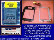 "60GB 1.8"" MOTION COMPUTING COMPLETE LE1700 ZIF HARD DRIVE KIT ~TOSHIBA MK6008GAH"