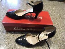 "Salvatore Ferragamo Vintage Shoes in box. Leather. Size 6 1/2 B. 2 3/4"" heel."