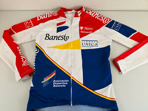 Nalini Banesto Campagnolo Fleece 3 Pocket L/S Cycling Jersey Size 5 Vintage