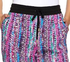 Whitney Port Pull-On Rib Elastic Waist Jogger Pants Pink Multi plus 22  A267191