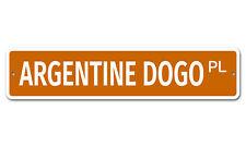"5138 Ss Argentine Dogo 4"" x 18"" Novelty Street Sign Aluminum"
