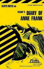 NEW The Diary of Anne Frank (Cliffs Notes) by Dorothea Shefer-Vanson