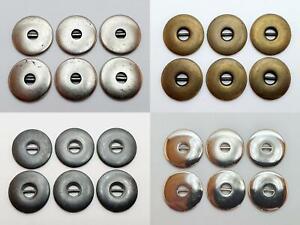 6 Stück Metallknöpfe Knopfe Knöpfe 20mm, 2cm Metall Antik Hohe Qualität