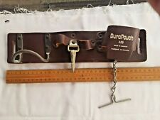 LEATHER CONSTRUCTION WORKER'S TOOL-BELT.  VINTAGE 1970s Made in Canada
