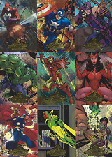 """2008 Marvel Masterpieces Series 2 Complete 9 Card """"AVENGERS"""" Insert Set...A1-A9"""