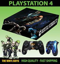 Ps4 Pelle Mortal Kombat X SUB Adesivo NINJA GHIACCIO ZERO NUOVO + Pad Decalcomania In Vinile deposte