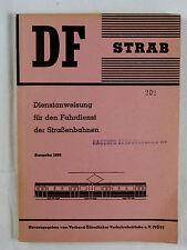 Dienstanweisung für den Fahrdienst der Straßenbahnen, Ausgabe 1966