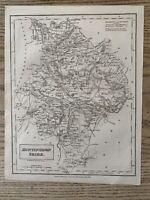1833 HUNTINGDONSHIRE ORIGINAL ANTIQUE COUNTY MAP BY SIDNEY HALL 186 YEARS OLD