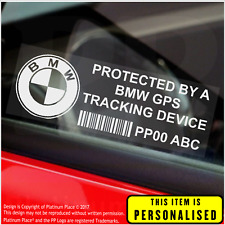 4 x BMW PERSONALISED GPS Tracking Device-Security Stickers-Alarm-Tracker,Car