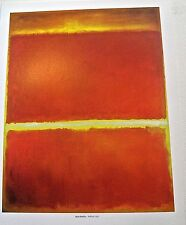 Mark Rothko Saffron Poster  14X11 Unsigned Offset Lithograph