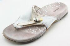 Merrell Size 6 M White Flip Flop Leather Women Sandal Shoes