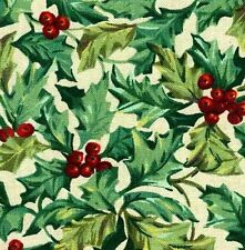 Longaberger Small Comforts Basket FABRIC LINER -  AMERICAN HOLLY -  NEW !!