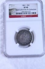 1861 Seated Quarter : NGC XF40
