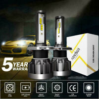 Pair H4 200W Car CREE CSP LED Headlight Kit Canbus Lamp 50000LM 6000K White